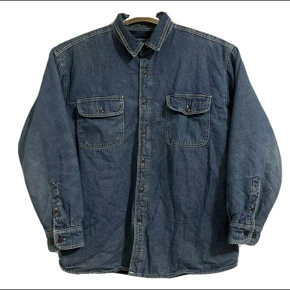 Levis Fleece Flannel Lined Denim Jacket XL